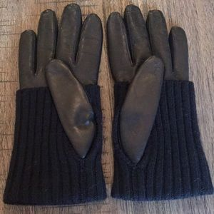 Coach Accessories - COACH leather and knit gloves